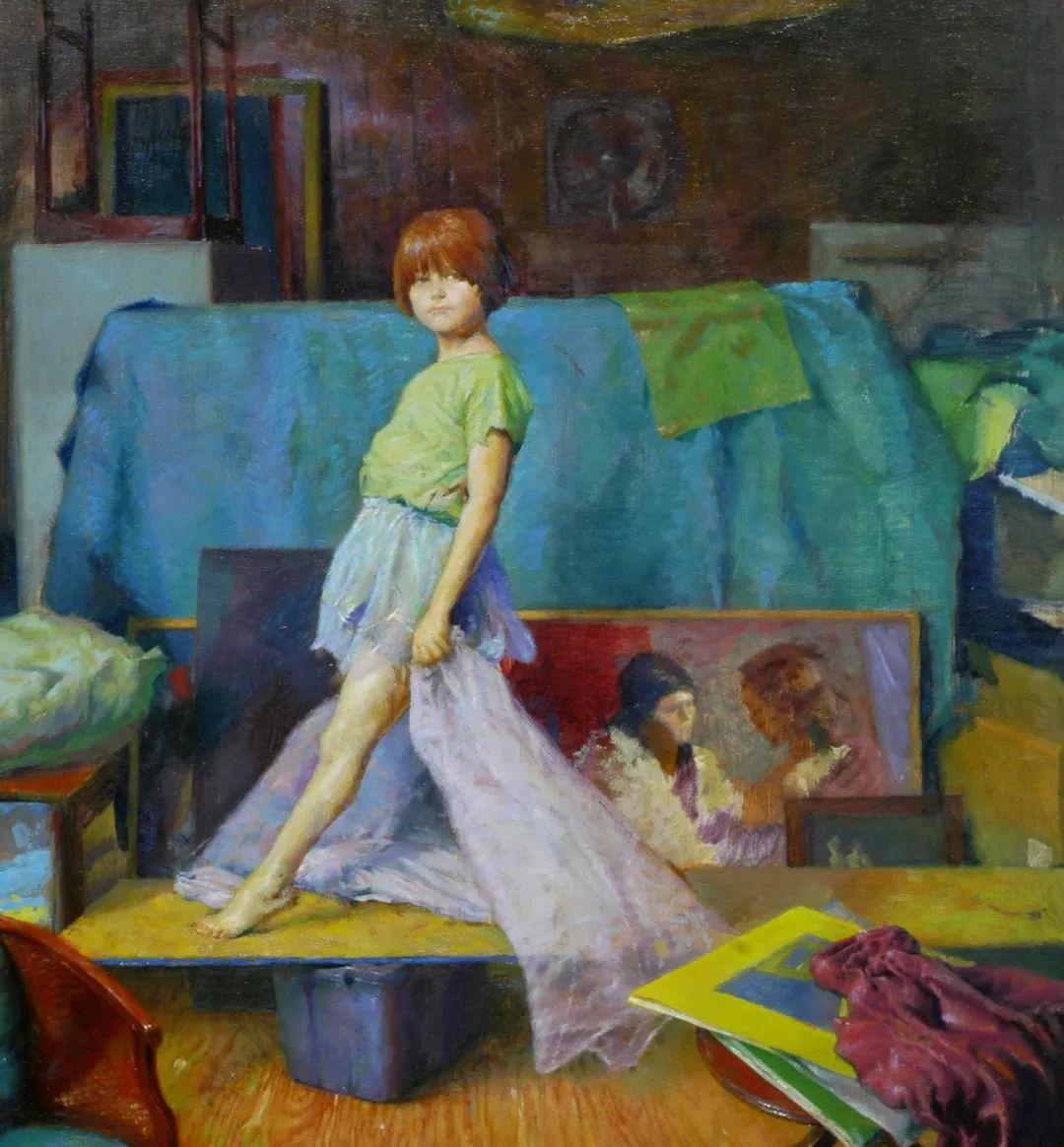 有趣而独特的人物肖像画,美国画家塞思·哈维坎普插图15