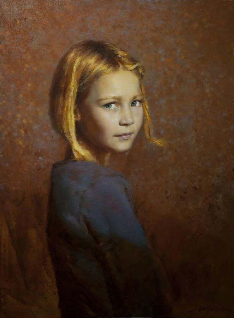 有趣而独特的人物肖像画,美国画家塞思·哈维坎普插图17