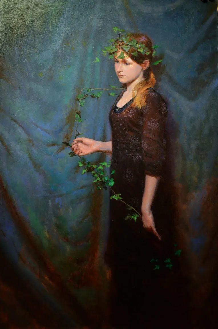有趣而独特的人物肖像画,美国画家塞思·哈维坎普插图19