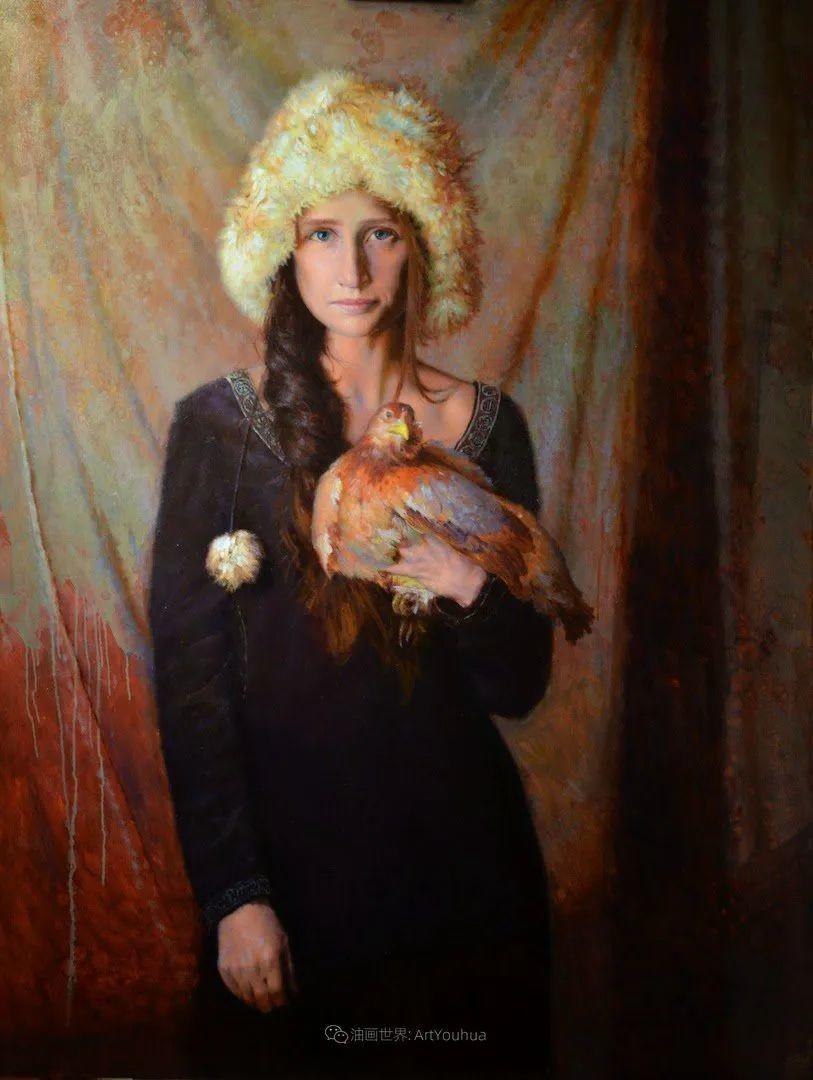 有趣而独特的人物肖像画,美国画家塞思·哈维坎普插图25