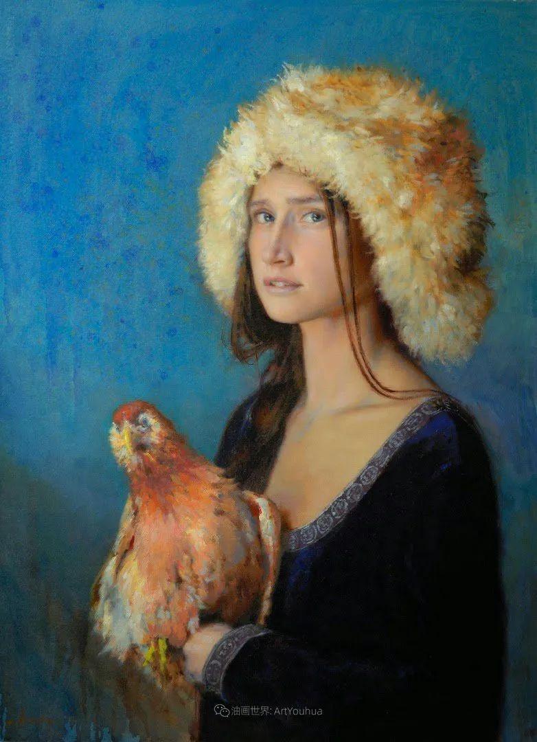 有趣而独特的人物肖像画,美国画家塞思·哈维坎普插图26