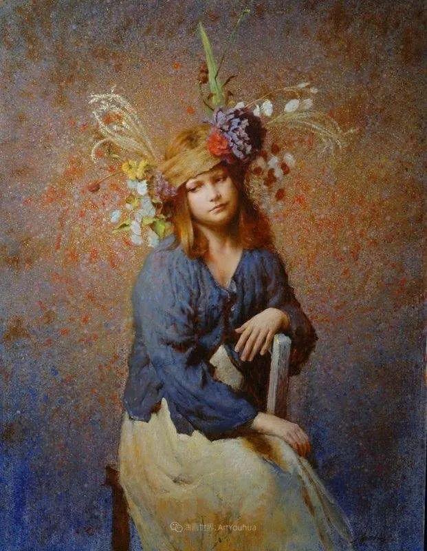 有趣而独特的人物肖像画,美国画家塞思·哈维坎普插图34