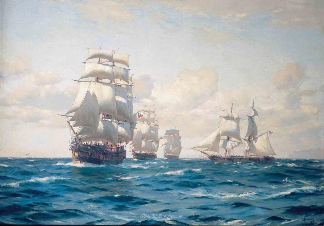 海军校长笔下海的艺术,英国画家萨默斯卡尔斯作品选插图