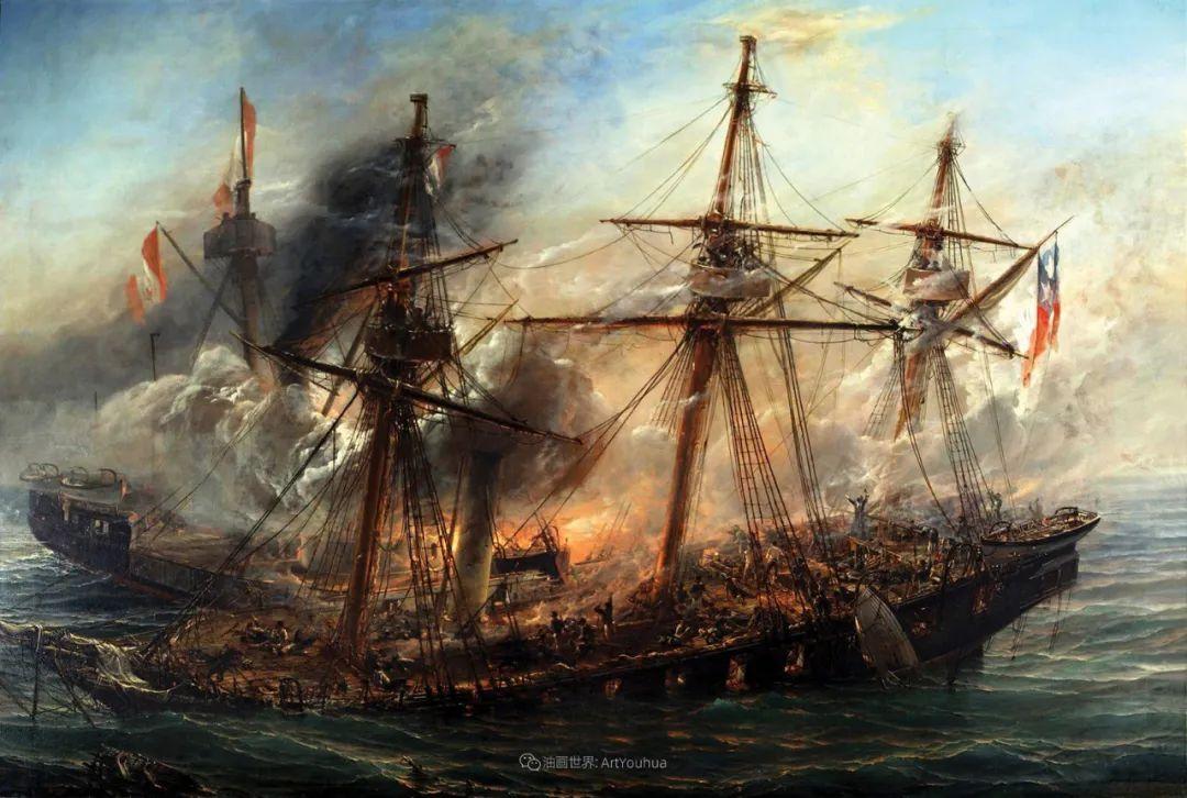 海军校长笔下海的艺术,英国画家萨默斯卡尔斯作品选插图2