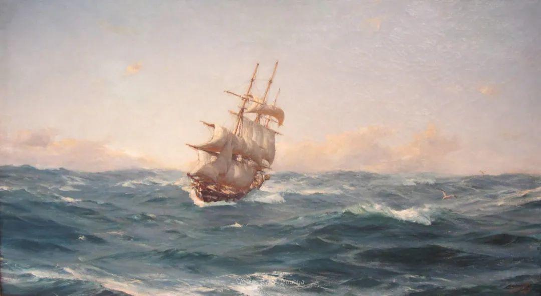 海军校长笔下海的艺术,英国画家萨默斯卡尔斯作品选插图3