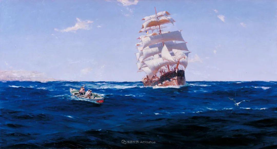 海军校长笔下海的艺术,英国画家萨默斯卡尔斯作品选插图4