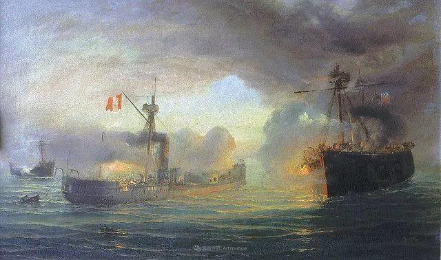 海军校长笔下海的艺术,英国画家萨默斯卡尔斯作品选插图5