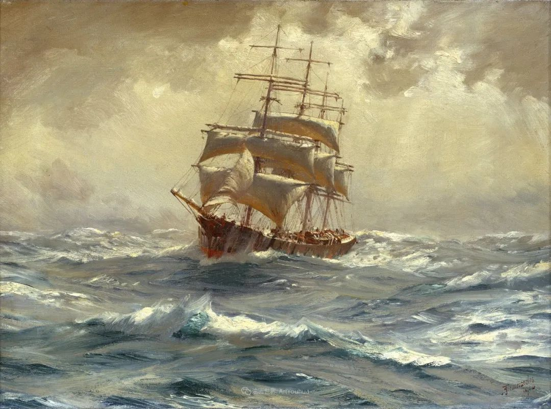 海军校长笔下海的艺术,英国画家萨默斯卡尔斯作品选插图7