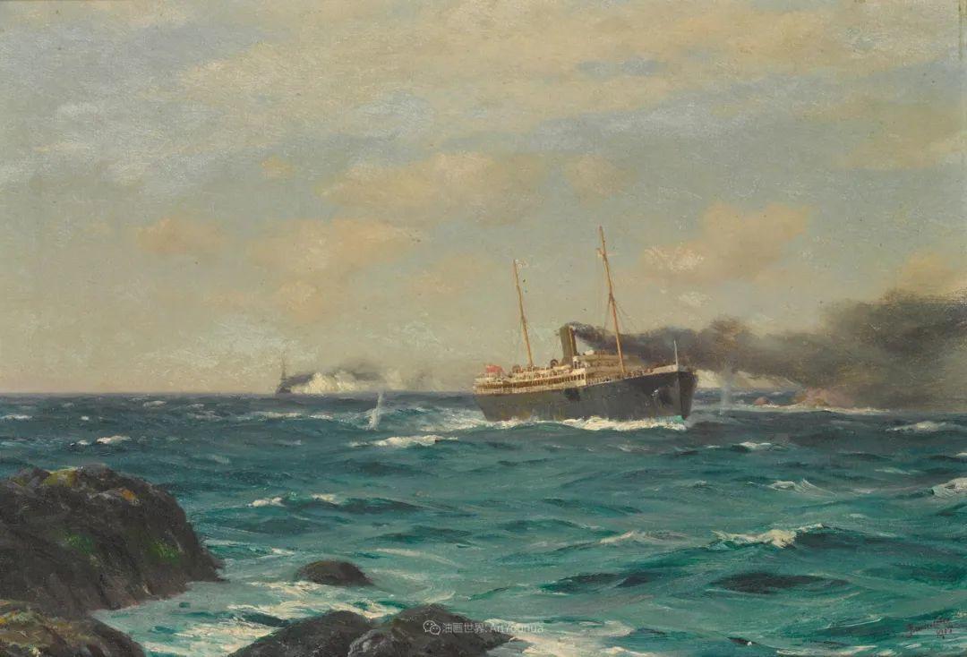 海军校长笔下海的艺术,英国画家萨默斯卡尔斯作品选插图8