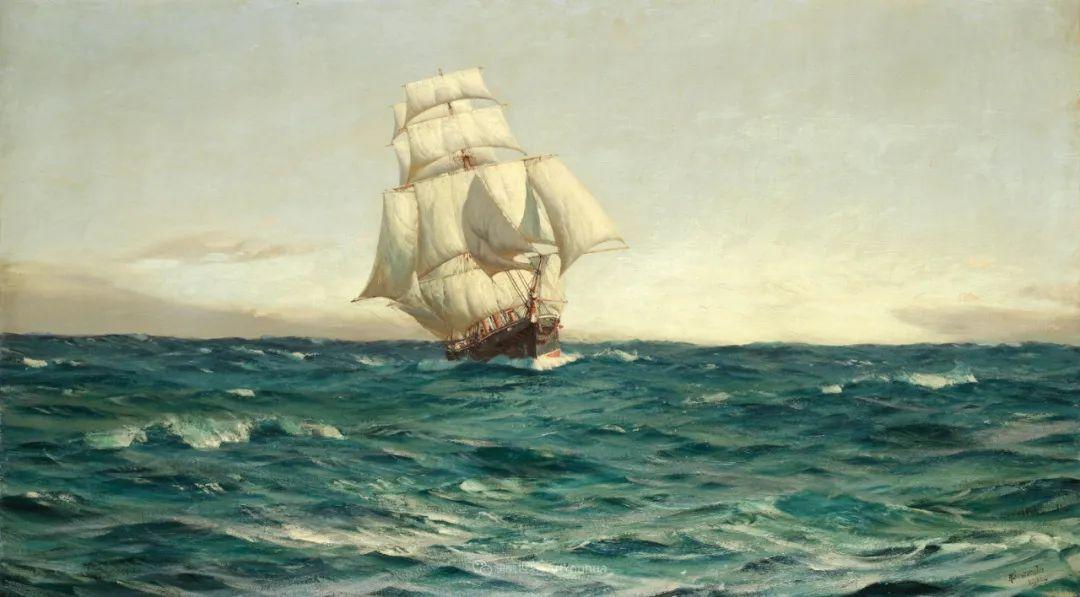 海军校长笔下海的艺术,英国画家萨默斯卡尔斯作品选插图9