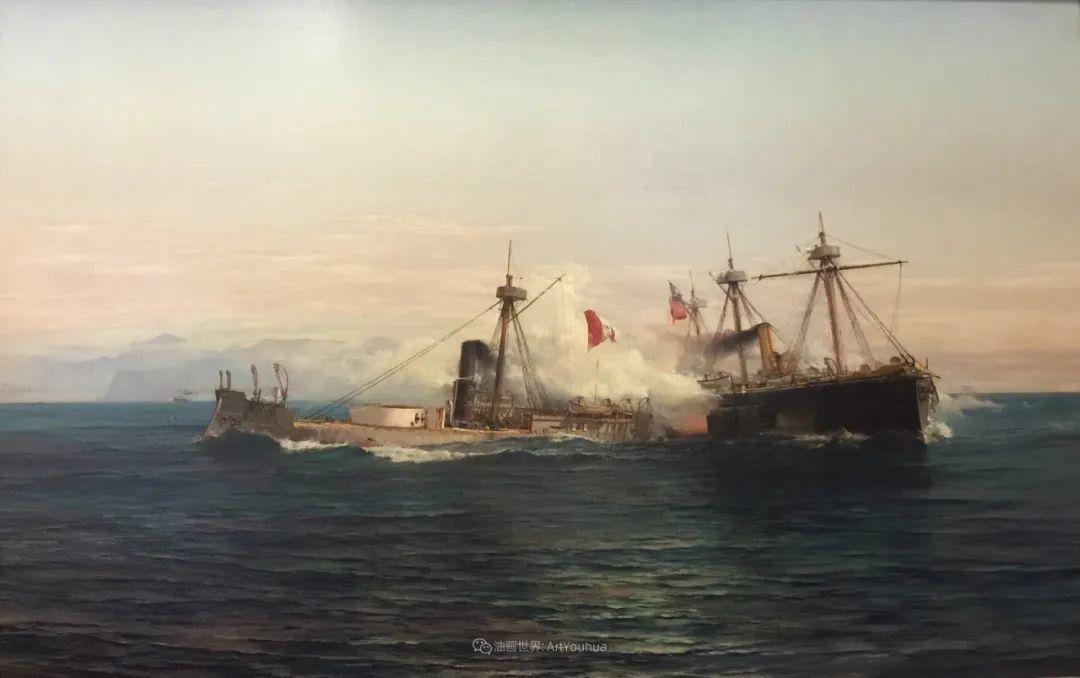 海军校长笔下海的艺术,英国画家萨默斯卡尔斯作品选插图10