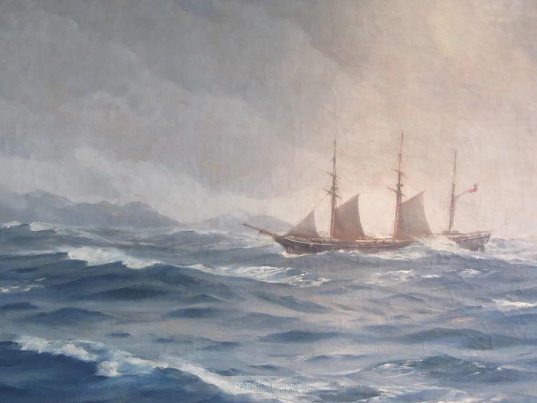 海军校长笔下海的艺术,英国画家萨默斯卡尔斯作品选插图11