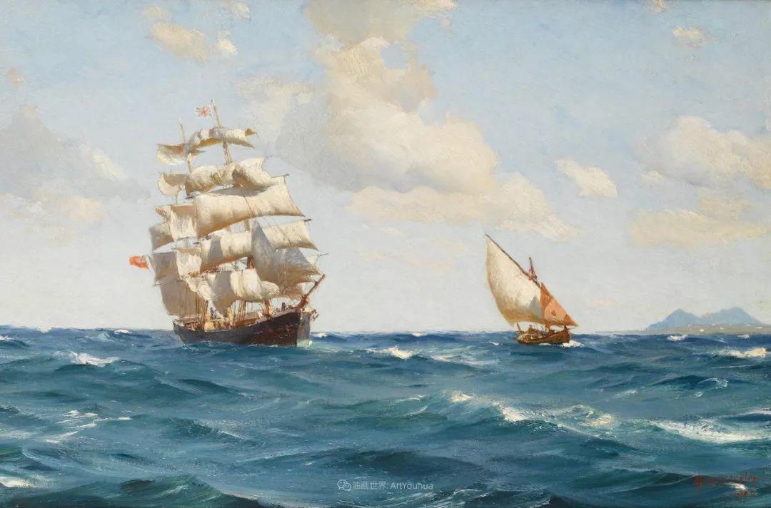 海军校长笔下海的艺术,英国画家萨默斯卡尔斯作品选插图12