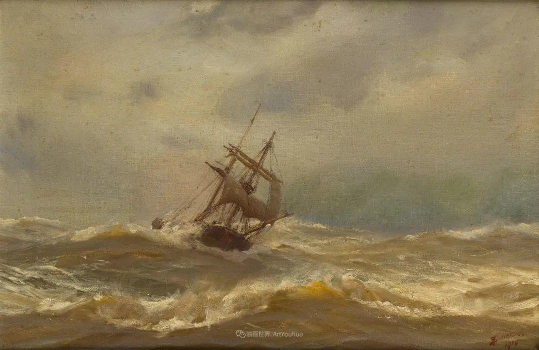 海军校长笔下海的艺术,英国画家萨默斯卡尔斯作品选插图14