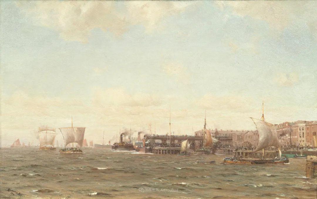 海军校长笔下海的艺术,英国画家萨默斯卡尔斯作品选插图17