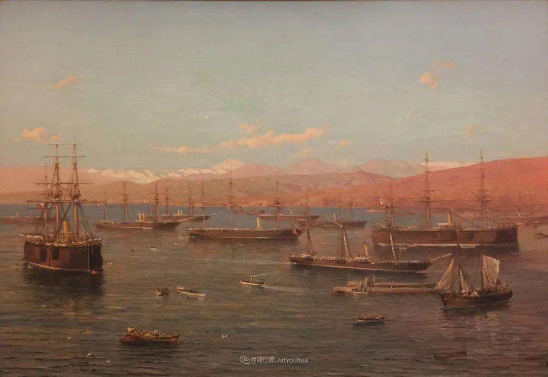 海军校长笔下海的艺术,英国画家萨默斯卡尔斯作品选插图18