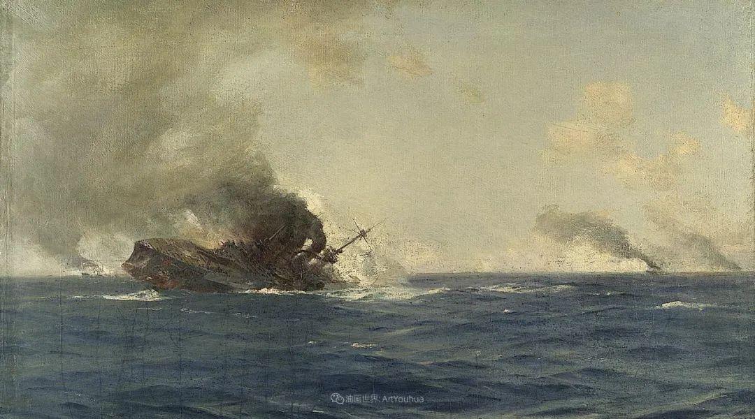 海军校长笔下海的艺术,英国画家萨默斯卡尔斯作品选插图19