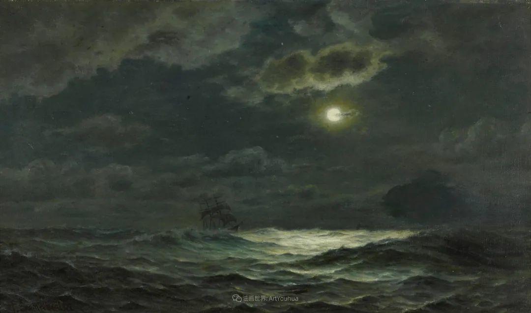 海军校长笔下海的艺术,英国画家萨默斯卡尔斯作品选插图20