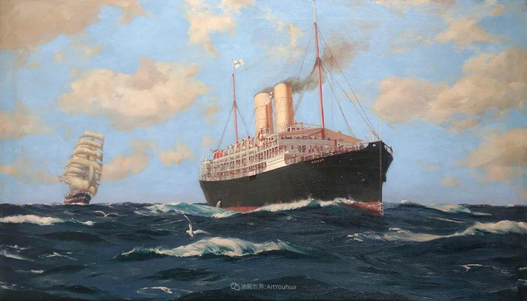 海军校长笔下海的艺术,英国画家萨默斯卡尔斯作品选插图21