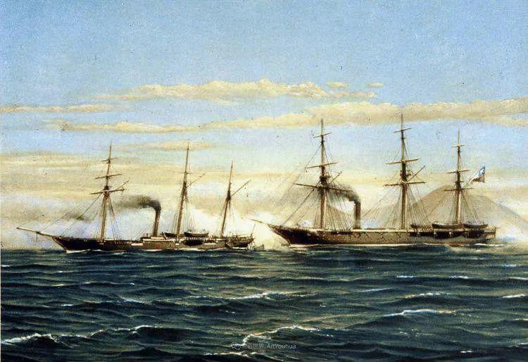 海军校长笔下海的艺术,英国画家萨默斯卡尔斯作品选插图23