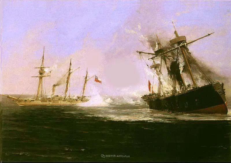 海军校长笔下海的艺术,英国画家萨默斯卡尔斯作品选插图24
