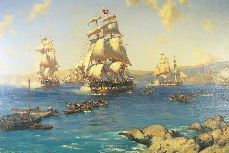海军校长笔下海的艺术,英国画家萨默斯卡尔斯作品选插图25