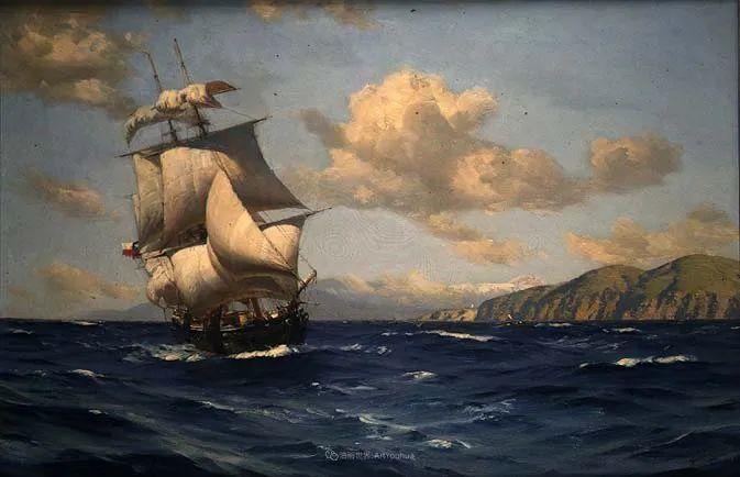 海军校长笔下海的艺术,英国画家萨默斯卡尔斯作品选插图26