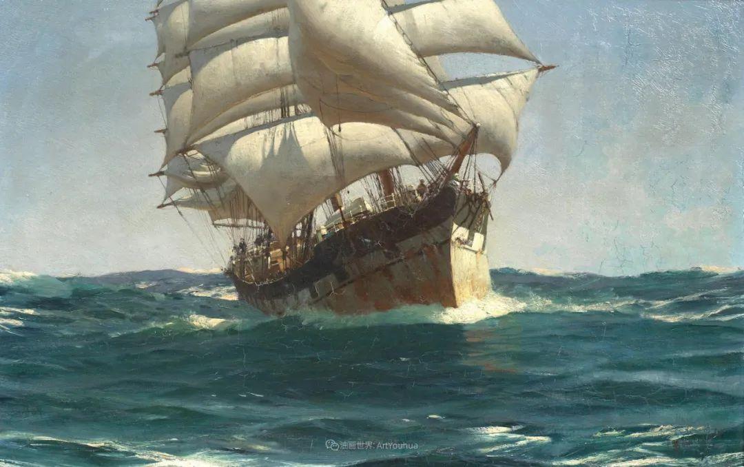 海军校长笔下海的艺术,英国画家萨默斯卡尔斯作品选插图28