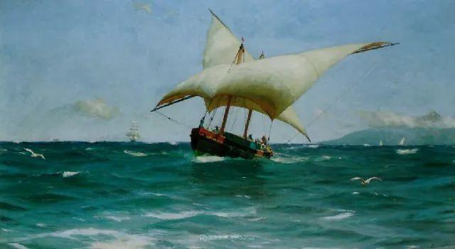 海军校长笔下海的艺术,英国画家萨默斯卡尔斯作品选插图29