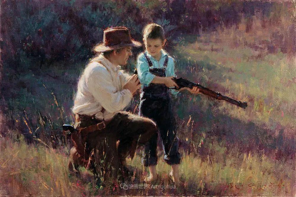 他尤其喜欢画人物,美国画家布莱斯作品选(下)插图11