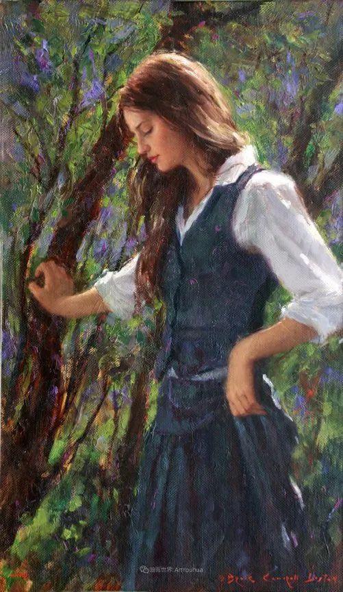 他尤其喜欢画人物,美国画家布莱斯作品选(下)插图17