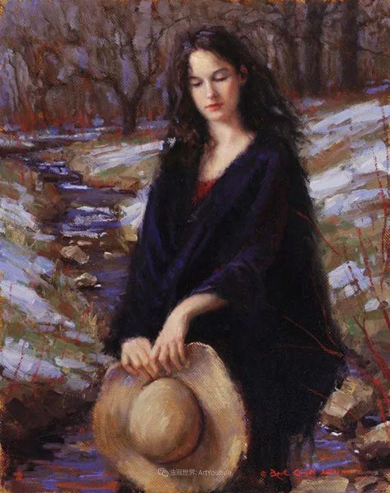 他尤其喜欢画人物,美国画家布莱斯作品选(下)插图29