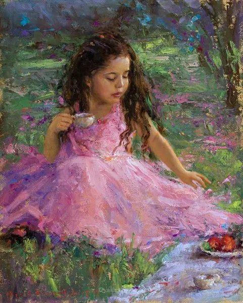 他尤其喜欢画人物,美国画家布莱斯作品选(下)插图33