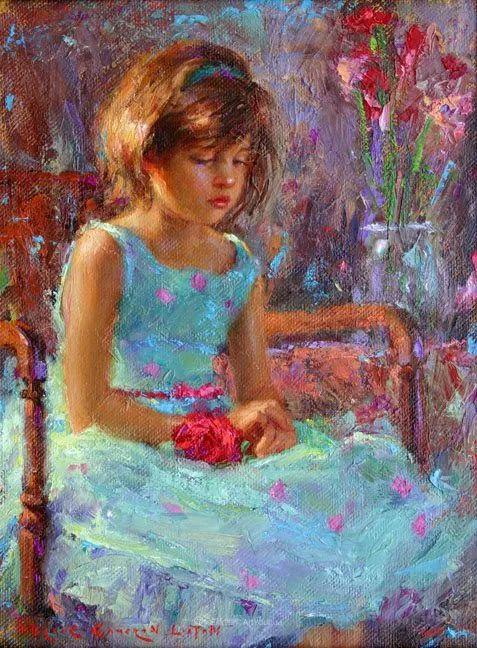 他尤其喜欢画人物,美国画家布莱斯作品选(下)插图47