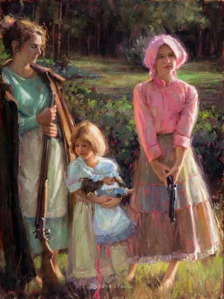 他尤其喜欢画人物,美国画家布莱斯作品选(下)插图53