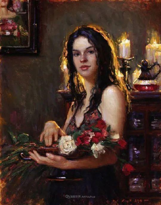 他尤其喜欢画人物,美国画家布莱斯作品选(下)插图57