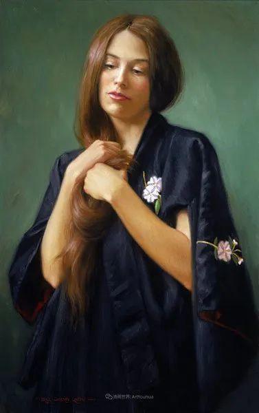 他尤其喜欢画人物,美国画家布莱斯作品选(下)插图59