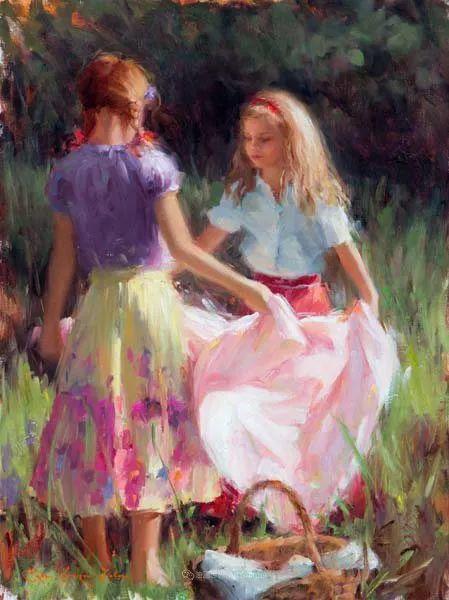 他尤其喜欢画人物,美国画家布莱斯作品选(下)插图69