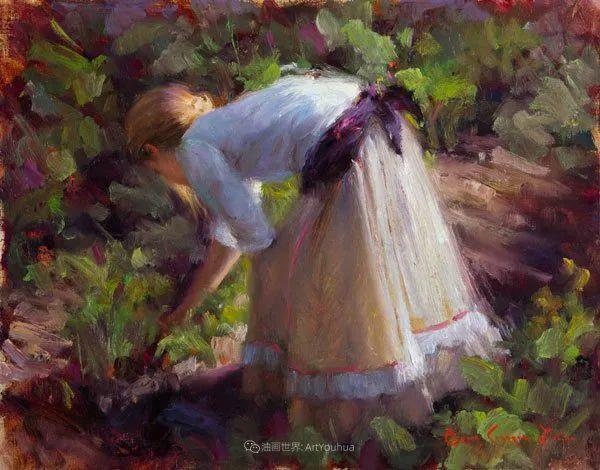 他尤其喜欢画人物,美国画家布莱斯作品选(下)插图71