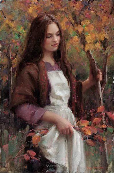 他尤其喜欢画人物,美国画家布莱斯作品选(下)插图73