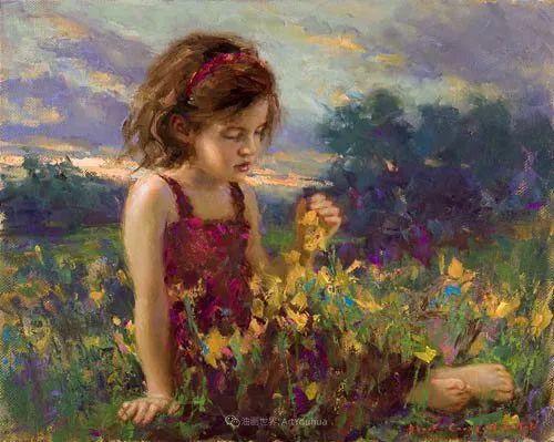 他尤其喜欢画人物,美国画家布莱斯作品选(下)插图87