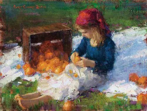 他尤其喜欢画人物,美国画家布莱斯作品选(下)插图89