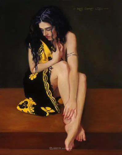 他尤其喜欢画人物,美国画家布莱斯作品选(下)插图99