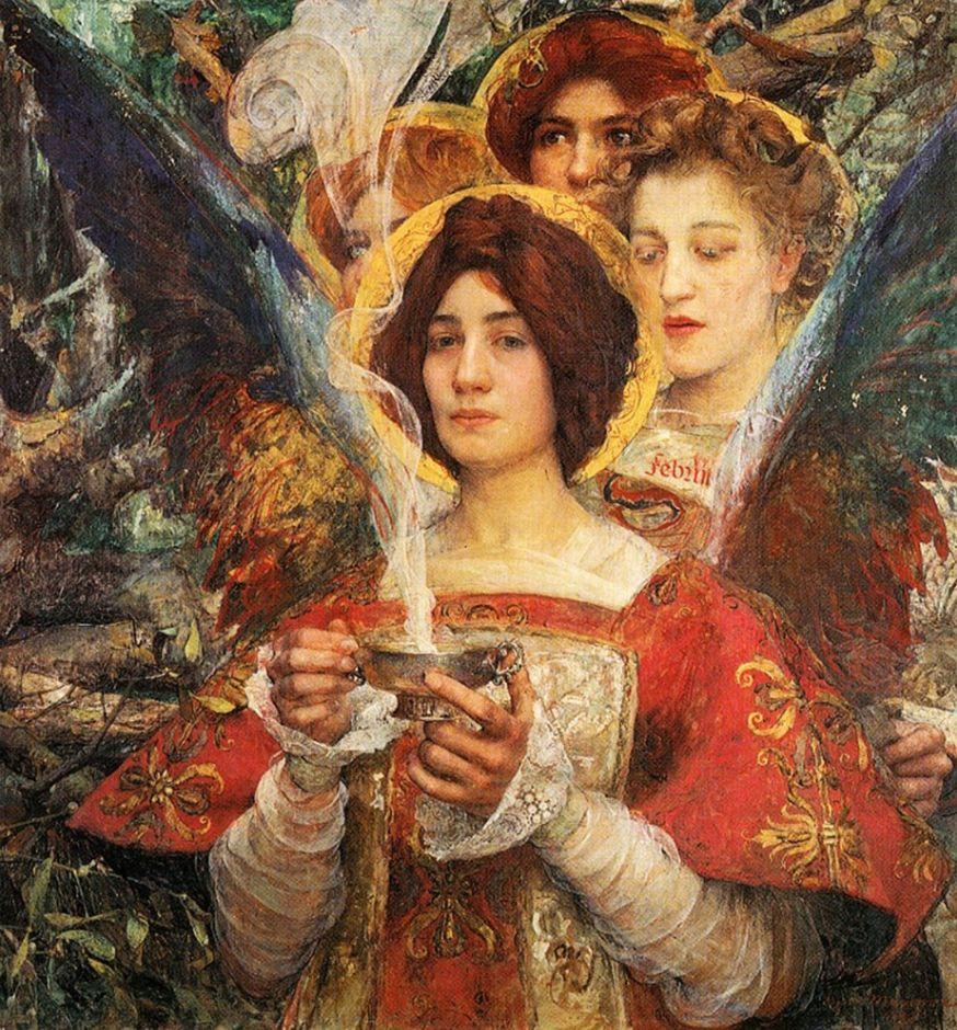 德朗和莫罗的学生,法国象征主义画家埃德加·马克森斯插图1