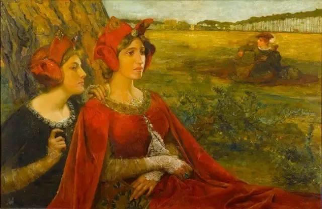 德朗和莫罗的学生,法国象征主义画家埃德加·马克森斯插图19