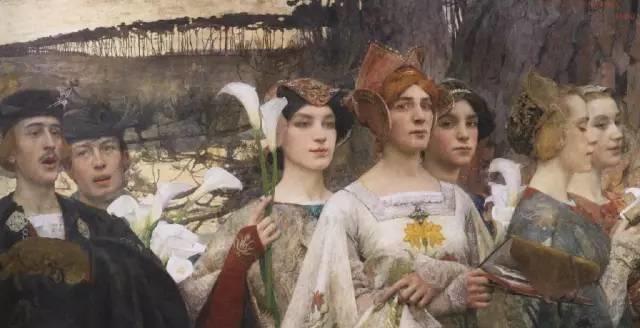 德朗和莫罗的学生,法国象征主义画家埃德加·马克森斯插图20