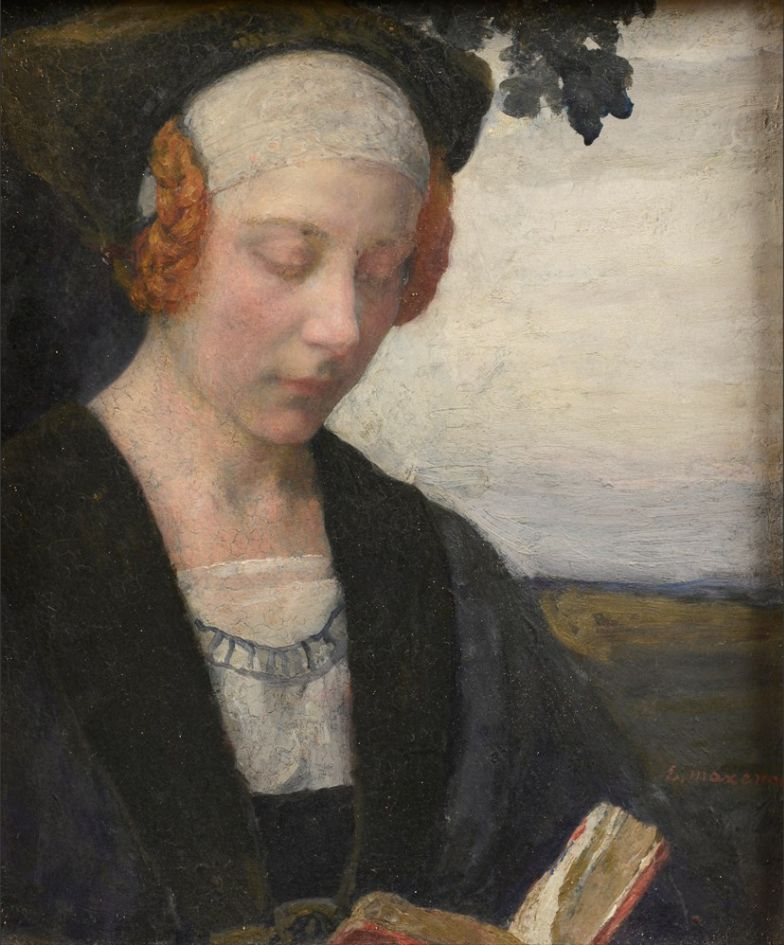 德朗和莫罗的学生,法国象征主义画家埃德加·马克森斯插图24