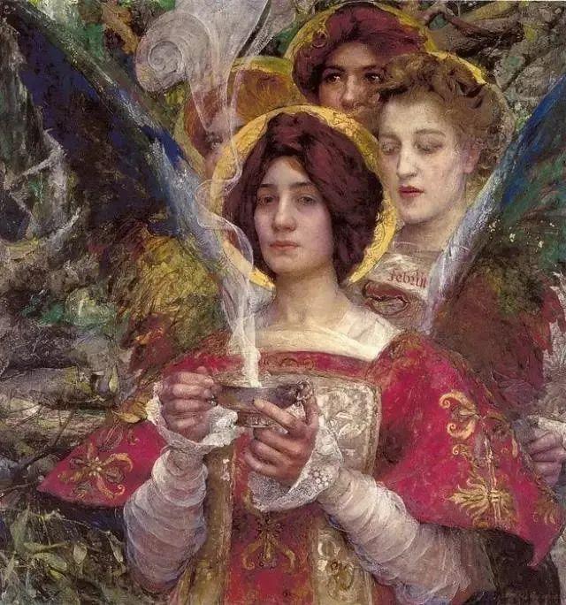 德朗和莫罗的学生,法国象征主义画家埃德加·马克森斯插图25