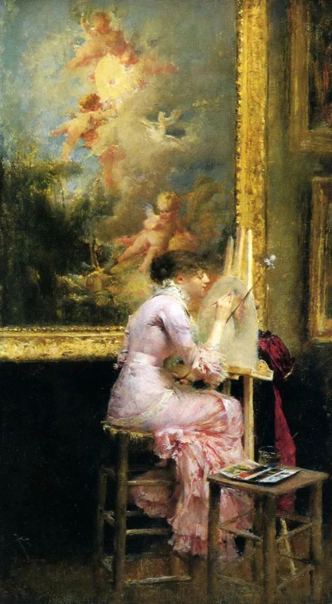你见过徐悲鸿的画,但他法国老师的画你见过吗?插图1