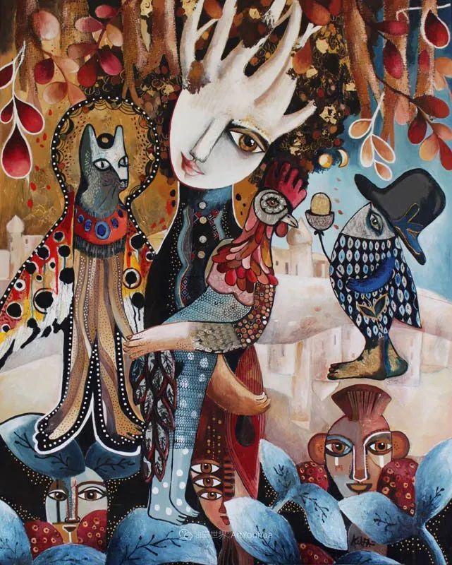 """""""睁一只眼闭一只眼"""",法国女艺术家Laure Ketfa作品选插图1"""